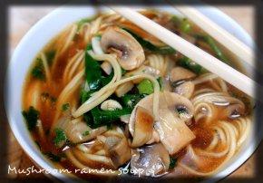 Mushroom ramen bowl