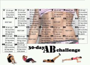 30 day ab challenge – Join in on the facebook ab frenzy or staywibbly!